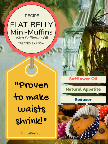 USDA Safflower oil flat belly muffins recipe