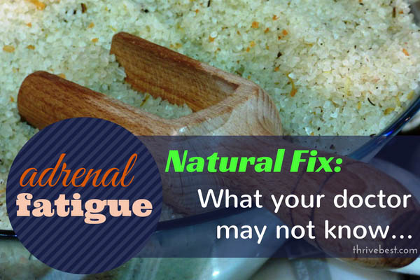 Unbleached Natural Salt for Adrenal Fatigue