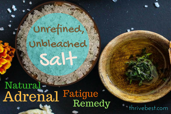 Natural sea salt remedy for adrenal fatigue and panic attack