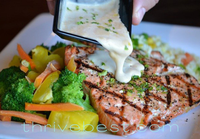 slim belly fix meal with salmon