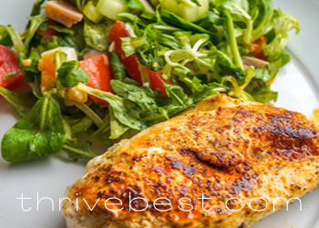 chicken with greens for slim belly meal
